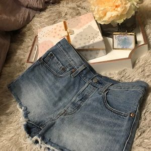 Levis 501 Denim Cutoff Shorts